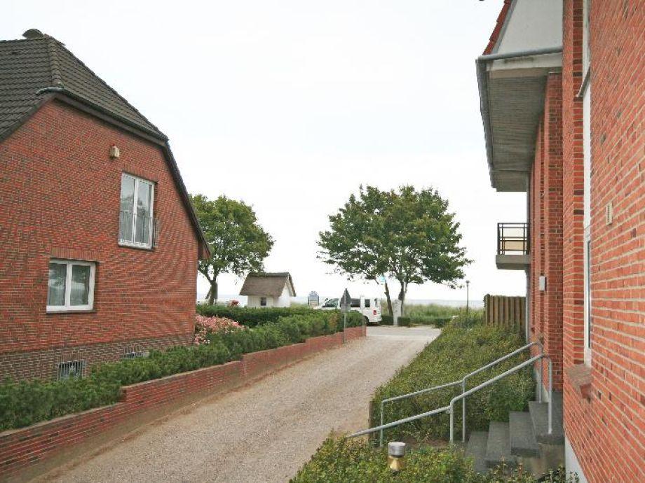 Ferienwohnung Tumas Haffkrug - Blick vom seitlichen Balkon