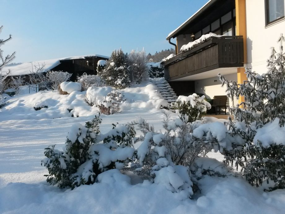 Winter scenery in front of the house