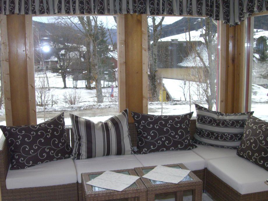 Sitzecke im Wintergarten