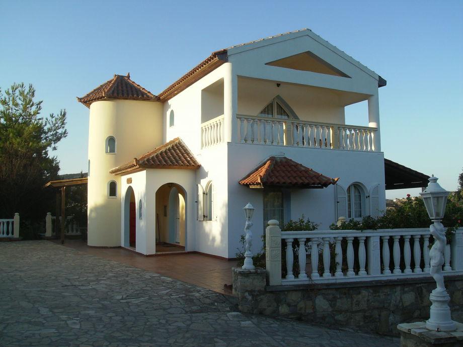 The villa in the evening light