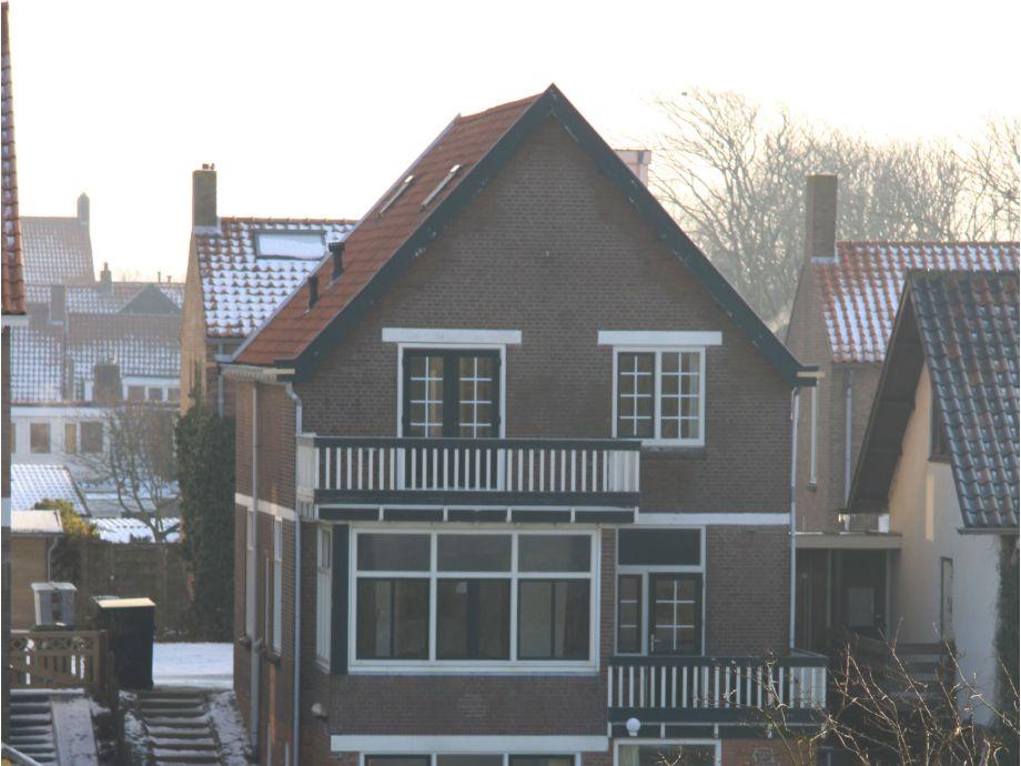 Blick vo der Dunen zum Haus