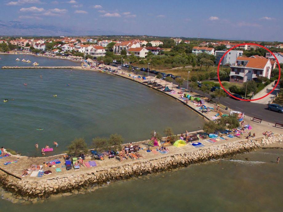 Ferienhaus direkt am Strand