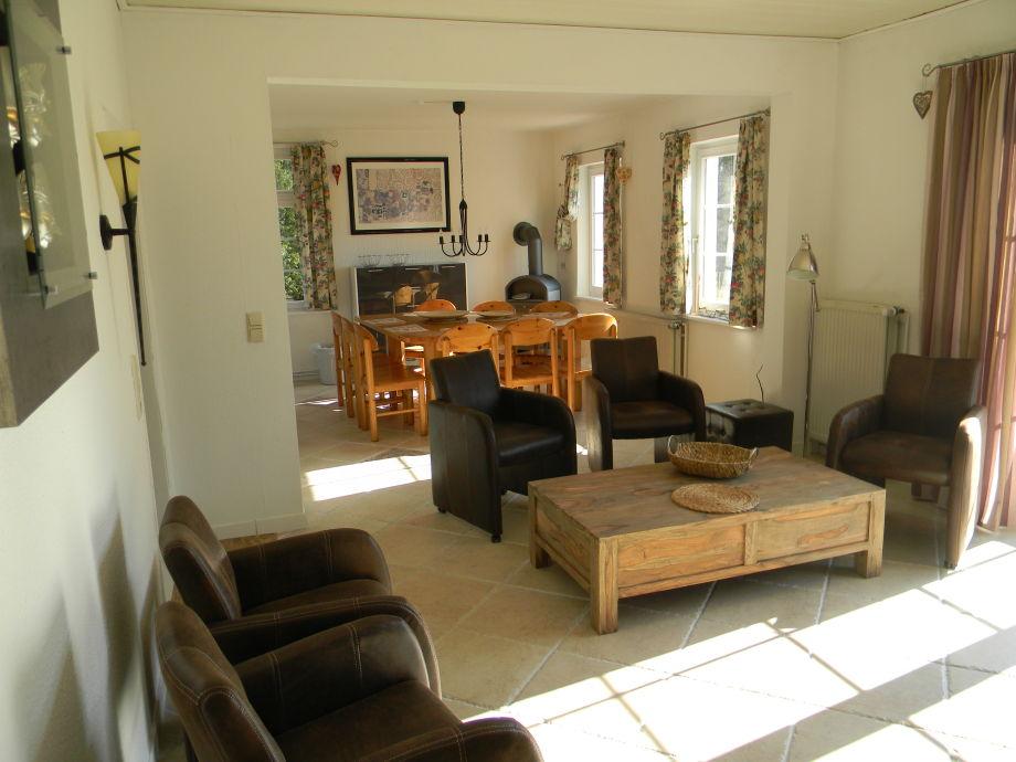 Wohnbereich der Ferienwohnung im Erdgeschoss