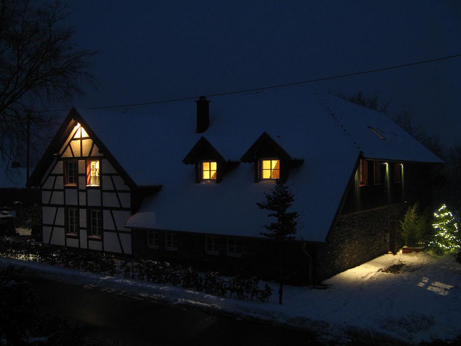 Ferienhaus am Abend