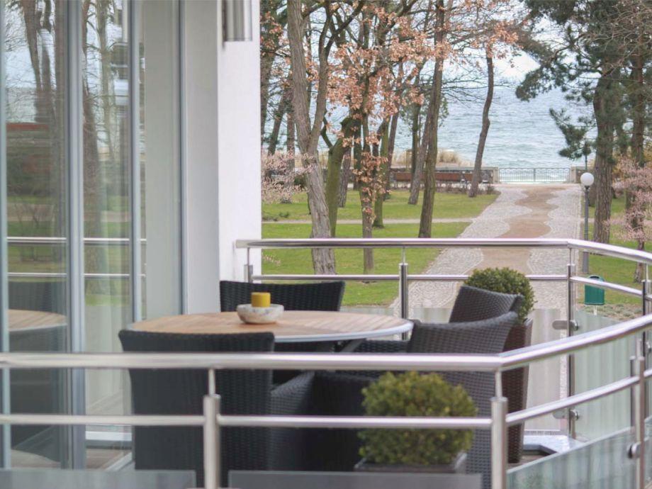 Balkon mit schönem Meerblick