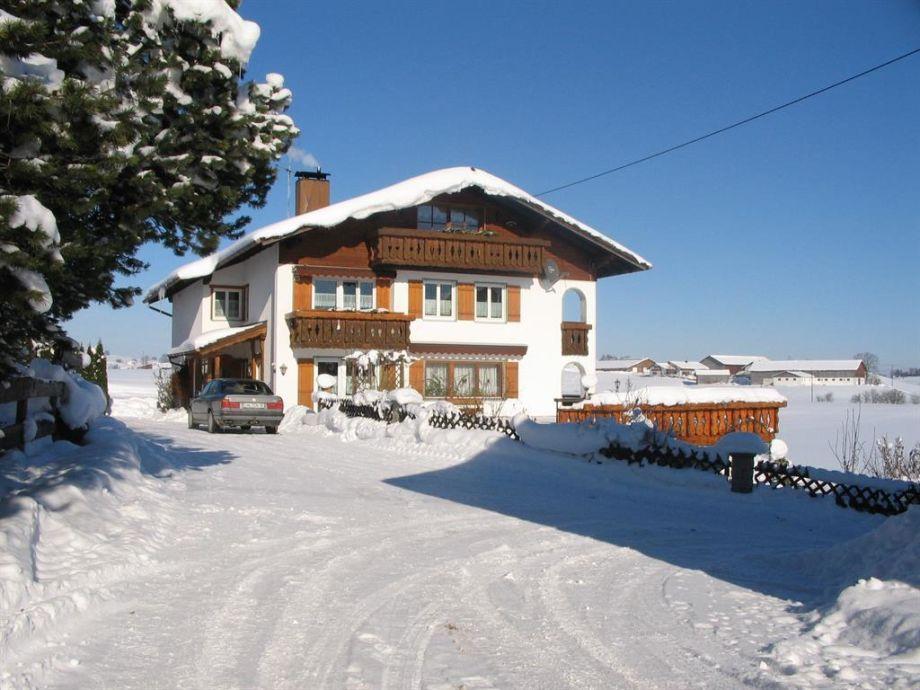 Winter Haus im Januar