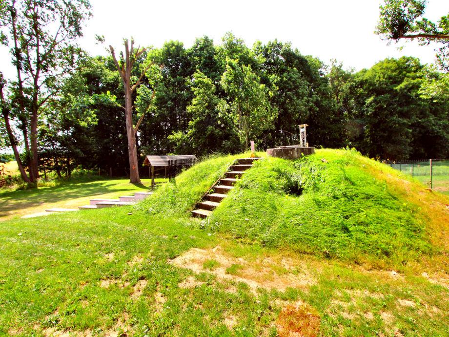 Aussicht vom Haus (Hügel = Außensauna) - Natur pur
