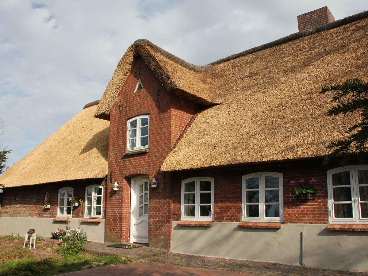 Sylt Reetdachhaus ferienhaus landhaus vor sylt nordfriesland festland direkt vor