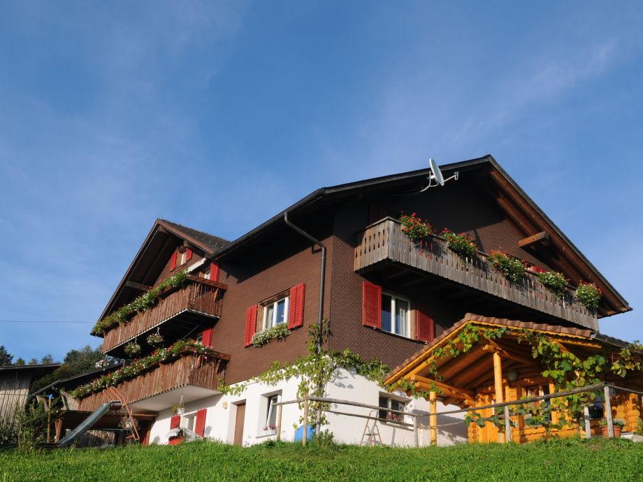 Wohnhaus mit Blockhaussauna