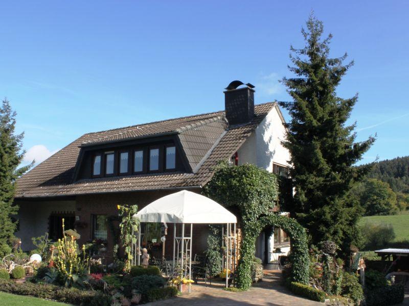 Ferienwohnung Haus Heidegarten Balkon