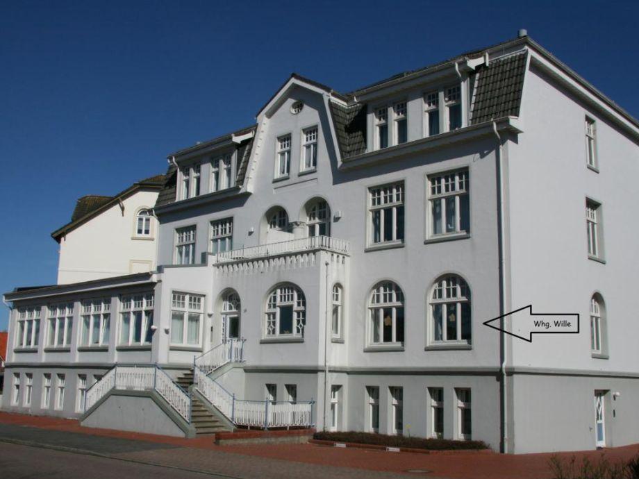 Strandvilla Möwennest - außen- Whg. Wille