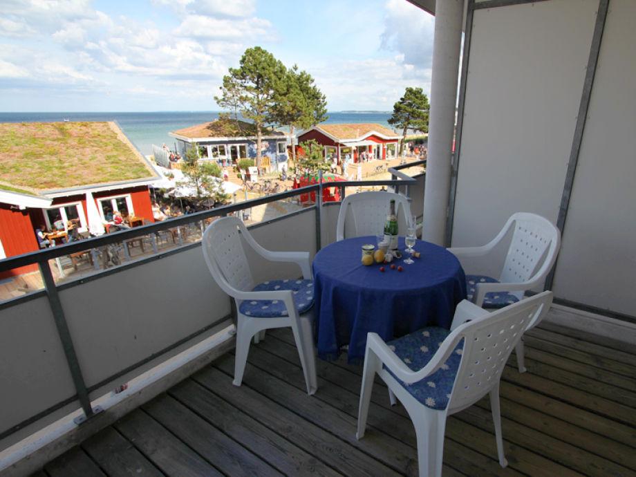Balkon mit direktem Meerblick
