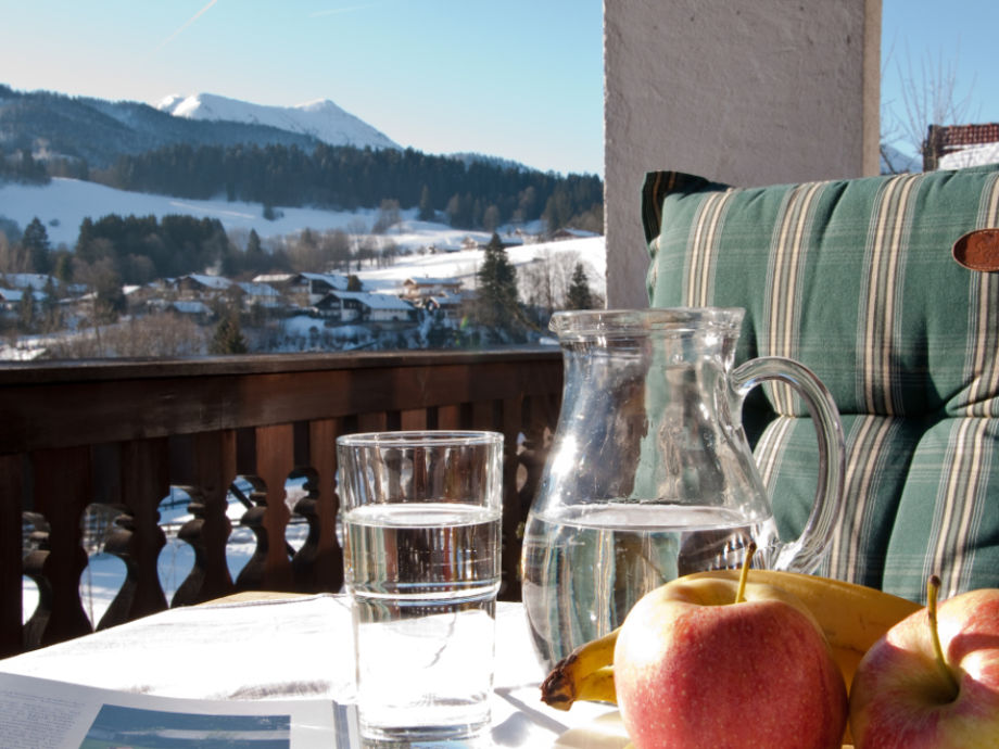 Winterbild Balkon
