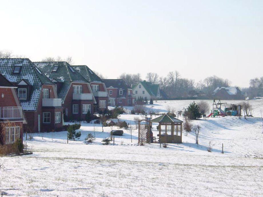 Außenanlage im Winter