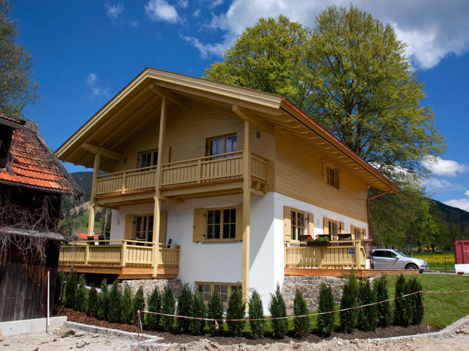 Southwest View of the House Oberammergau Alps