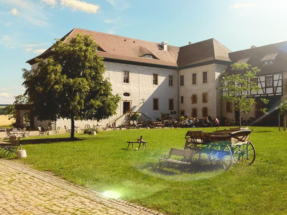 Rittergut Positz - grüne Innenhof