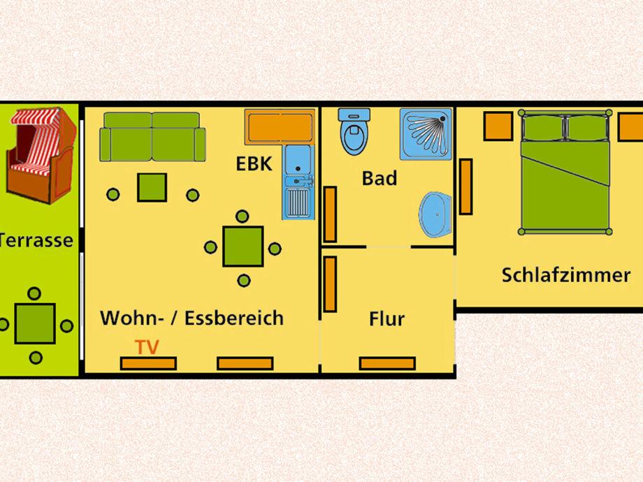 ferienwohnung app strandkorb binz insel r gen frau ute steding albrecht. Black Bedroom Furniture Sets. Home Design Ideas