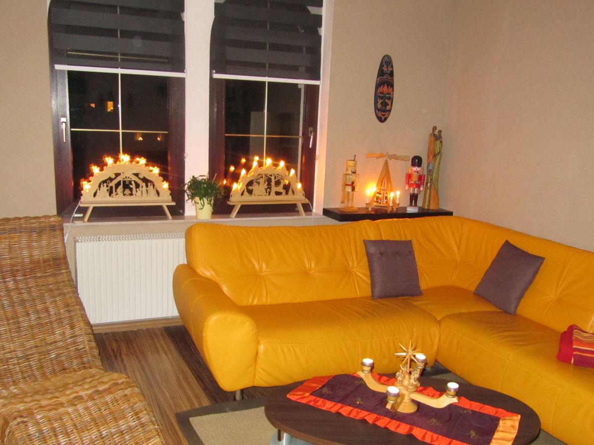 Ferienwohnung mit herz gr nhain beierfeld frau verena - Weihnachten wohnzimmer ...