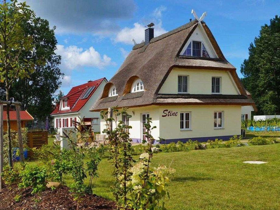 Außenaufnahme Reetdach- Ferienhaus STINE
