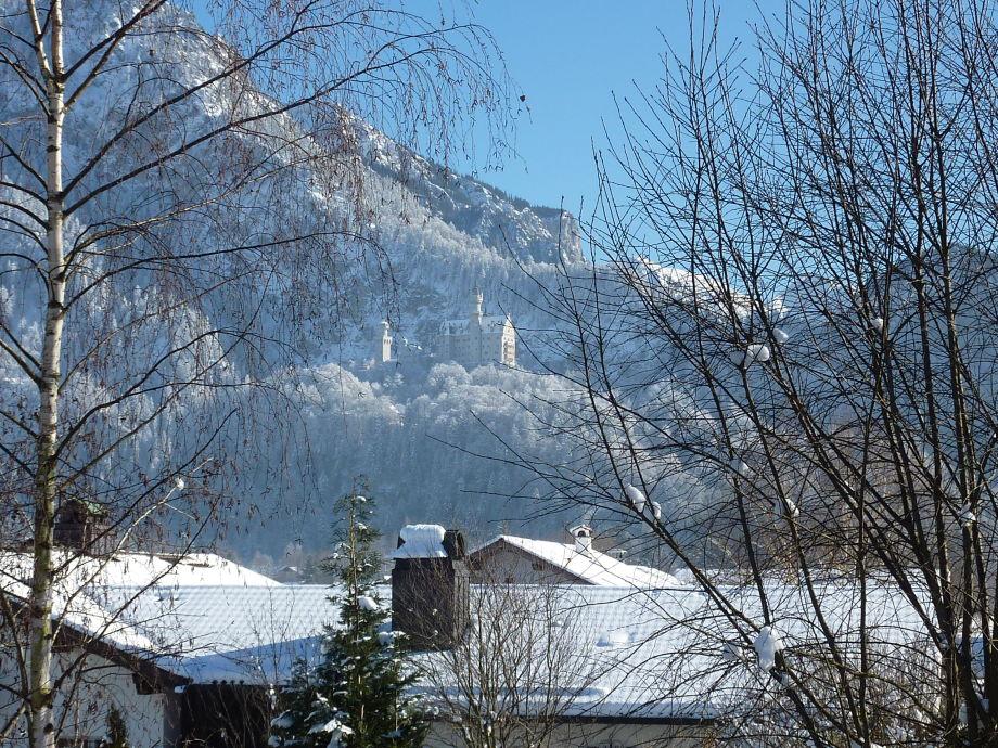 Aussicht vom Balkon Winter