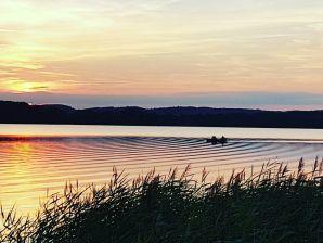 Ferienhaus am Malchiner See mit Boot und Kanu