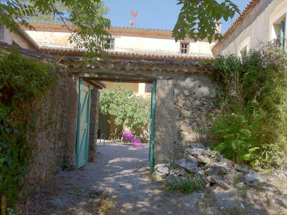 Eingang zum Patio