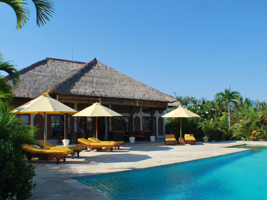 Blick vom Meer Villa Cerah, Bali