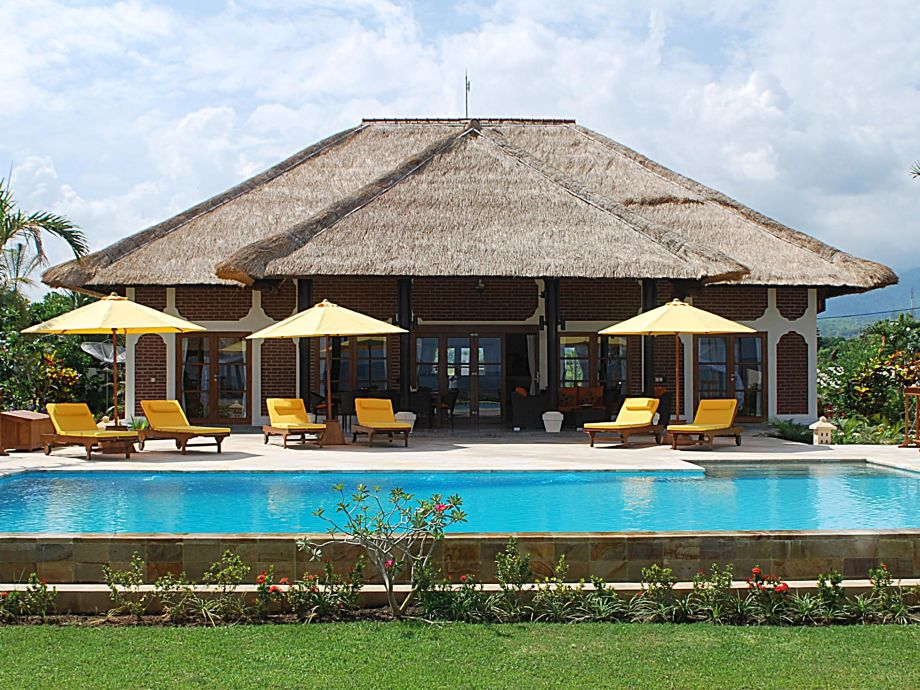 Ansicht Villa vom Strand