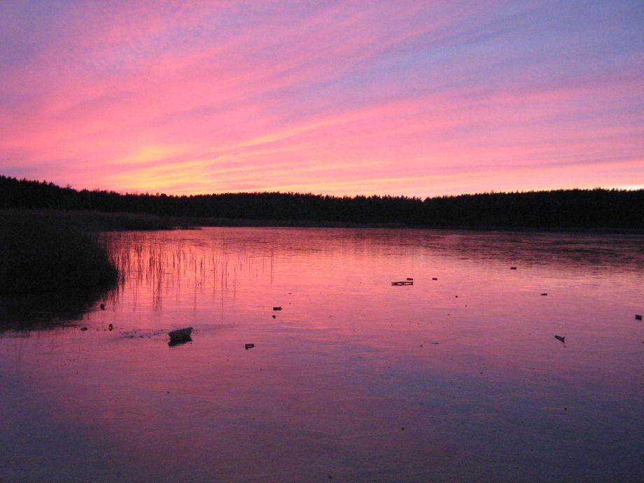Oh wie leuchtet der eisige See in Hohenwalde