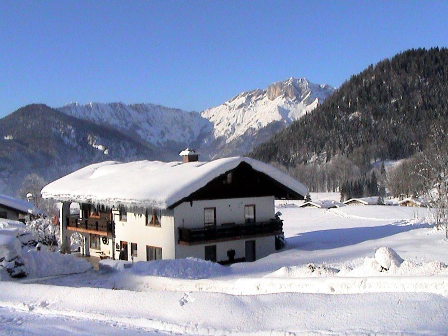 Haus Bergblick im Winter