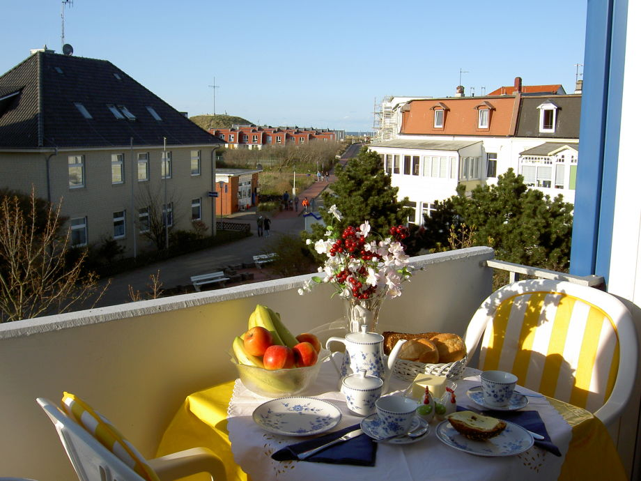Blick vom Balkon Richtung Nordstrand