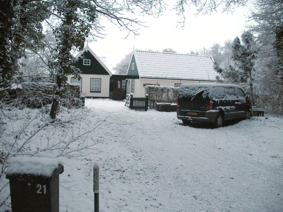 front view during winter time
