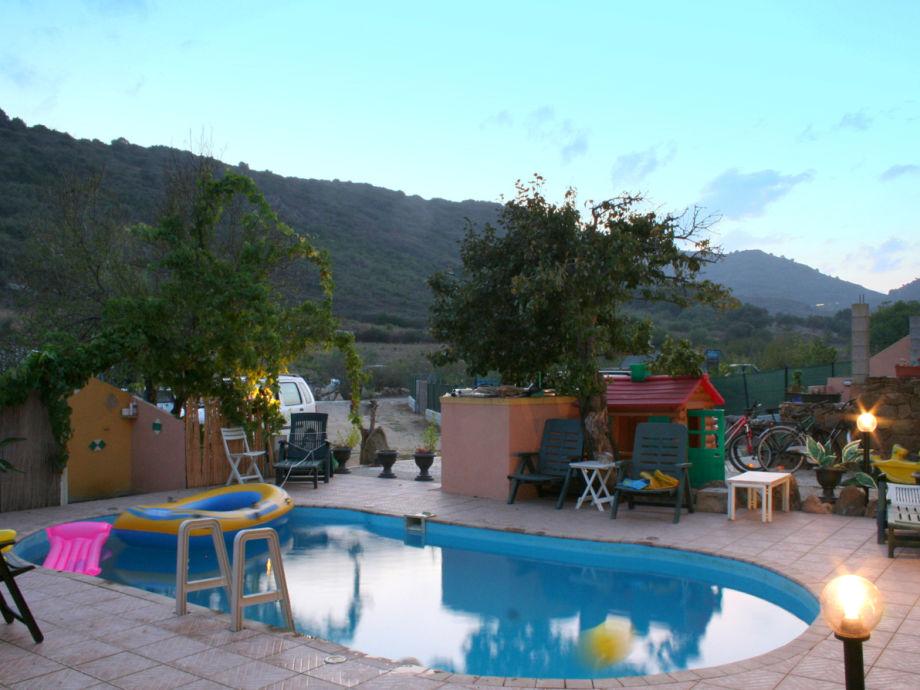 Ferienhaus Mirte, Agrustos, Budoni, der Pool