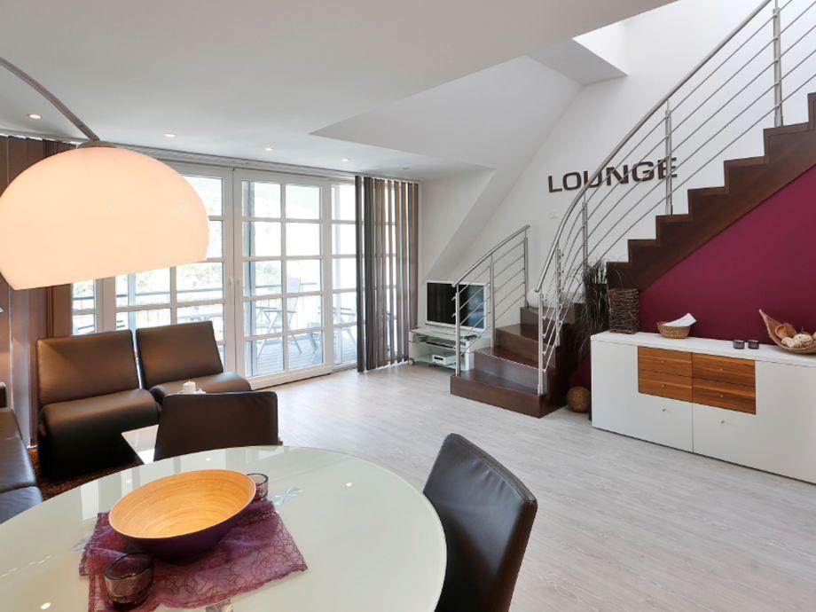 Die 'Lounge' mit Blick auf die Loggia.