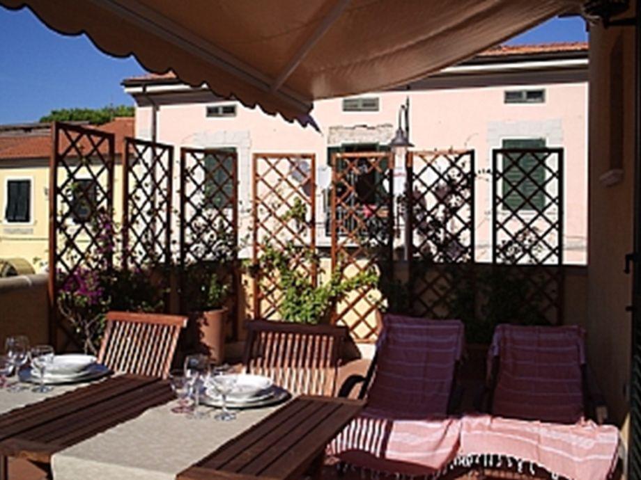 The terrace is wide