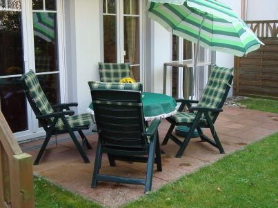 strandnahe 2-Zimmer-Ferienwohnung mit Terrasse