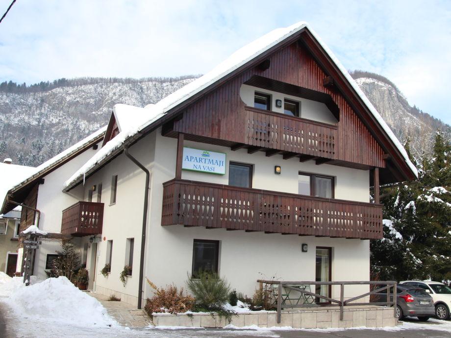 Apartments Na vasi - 2 balconies of apartment Winter