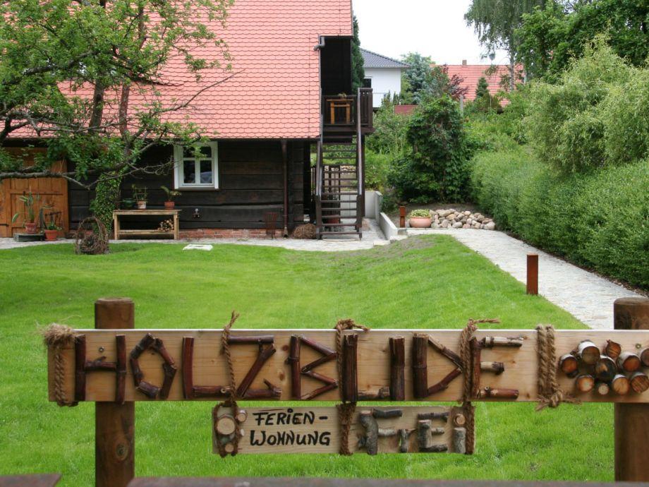 """Eingang zur """"Holzbude"""""""