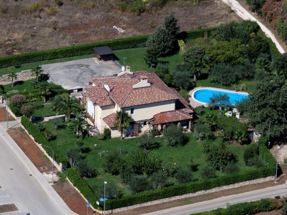 Villa Febo from the air
