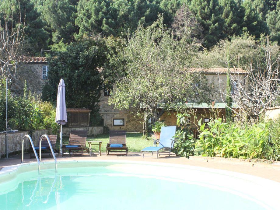 vacation villa and swimming pool