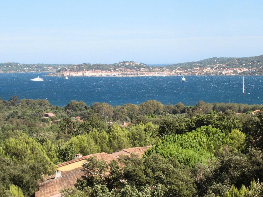 Blick in die Bucht von St. Tropez