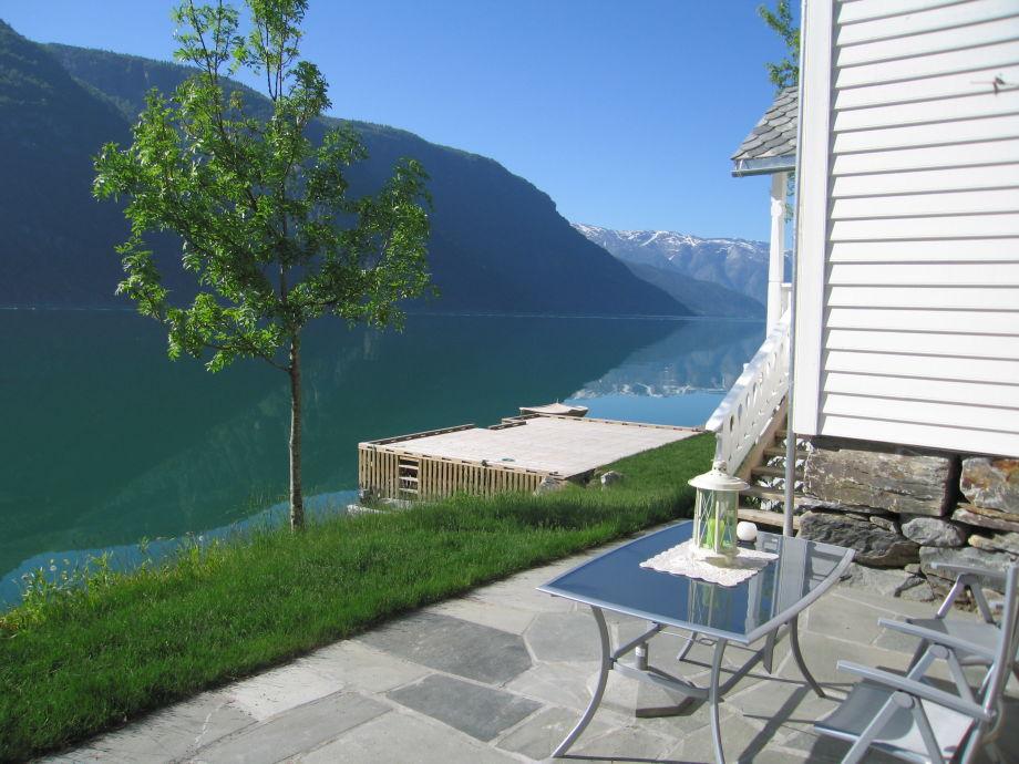 "Fjordview from terrace of ""Butikken"""