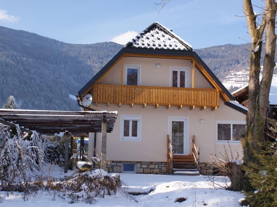 Ferienhaus XL Gartenseite WINTER