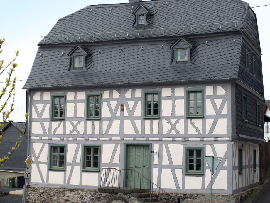 """Außenaufnahme Historisches Ferienhaus """"Dreiherrisches Gericht"""""""