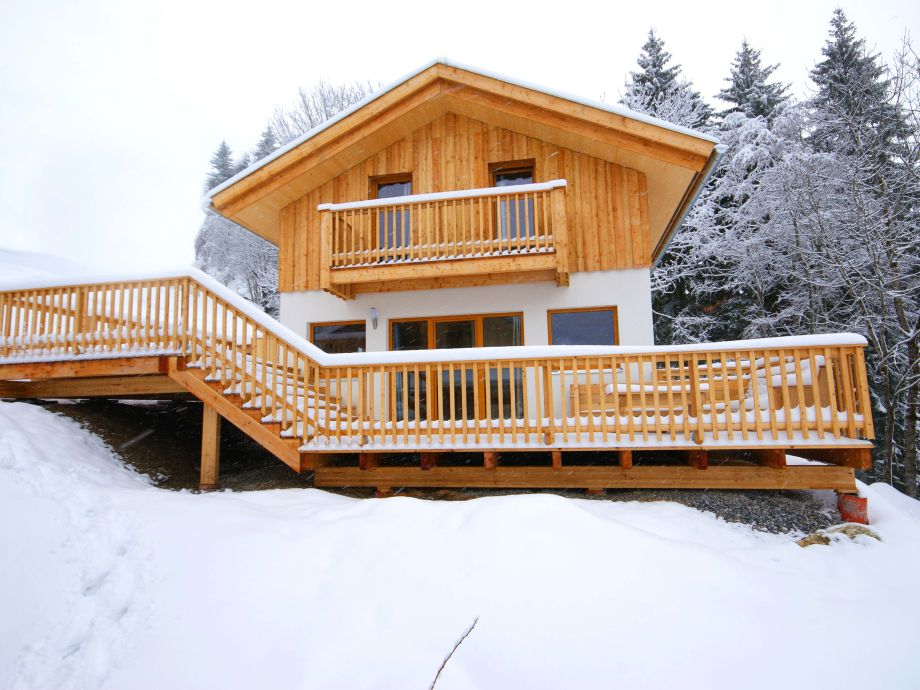 Chalet im Winter