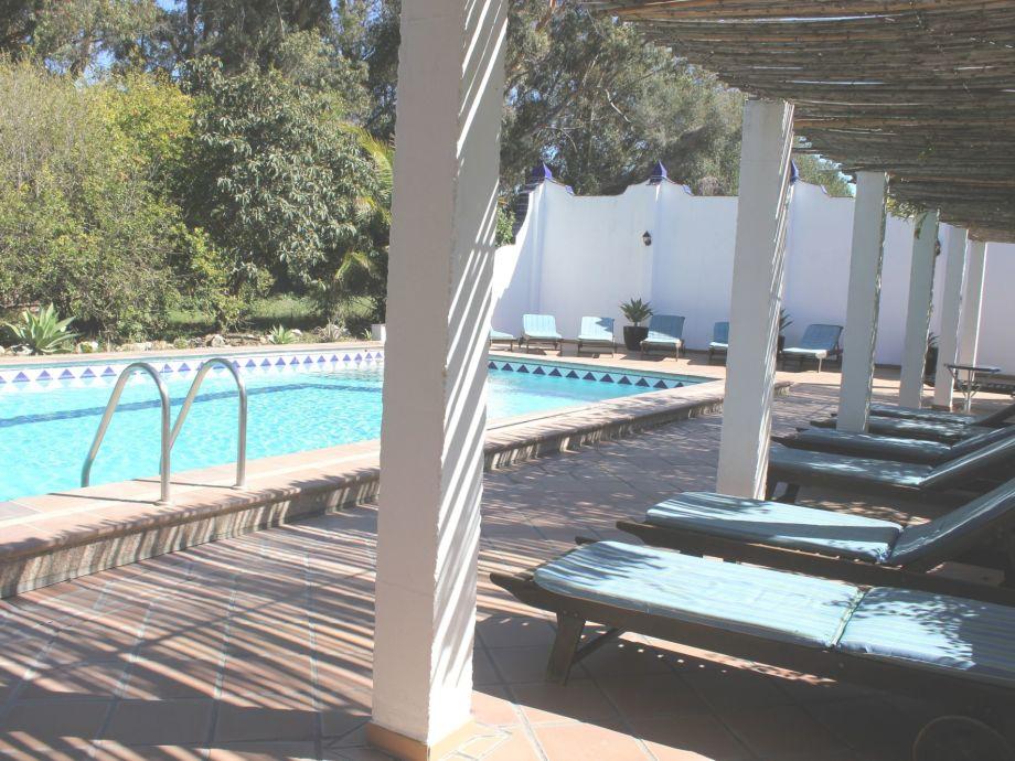 Der Pool im Garten der Finca