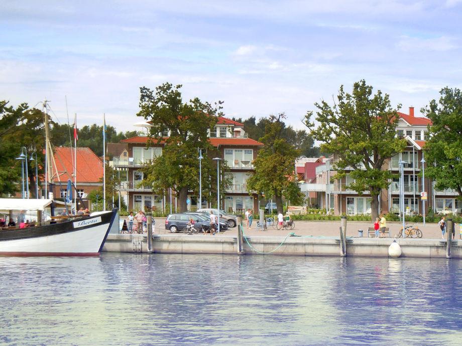 Blick auf die Hafenresidenz