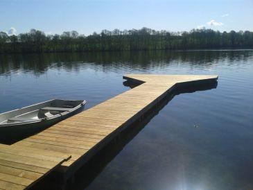 Ferienhaus Am See mit Boot