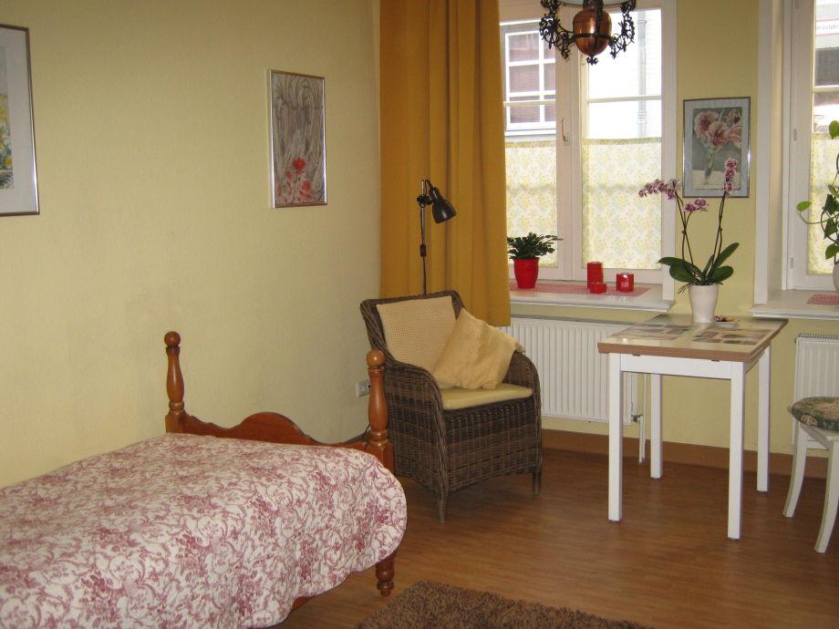 Das Wohn-/Schlafzimmer