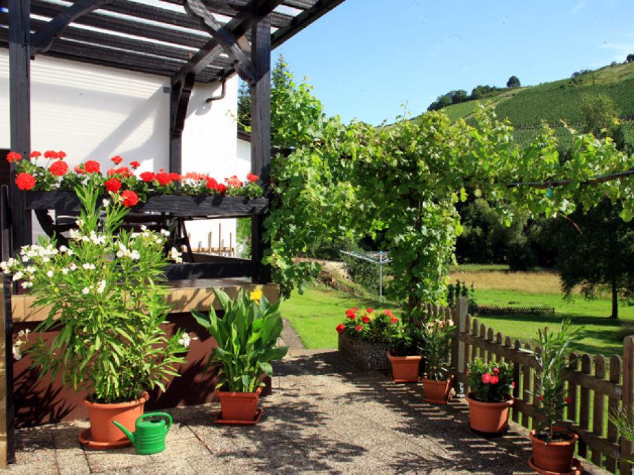 Terrasse mit Weinbergspanorama